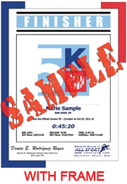 Finisher Certificate (with frame) (ID:341750) - $11.99