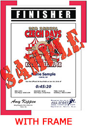 Finisher Certificate (with frame) (ID:336782) - $10.99
