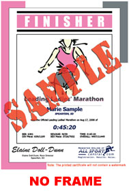 Finisher Certificate (w/o frame) - Event Logo (ID:317857) - $5.99