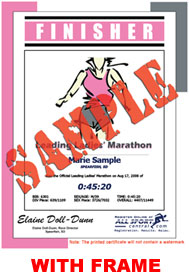 Finisher Certificate (with frame) - Event Logo (ID:317856) - $10.99