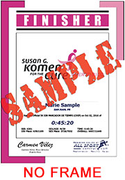 Finisher Certificate - w/o frame (ID:344479) - $6.99