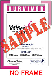 Survivor Finisher Certificate - w/o frame (ID:344481) - $6.99
