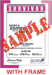 Survivor Finisher Certificate - with frame (ID:344480) - $11.99