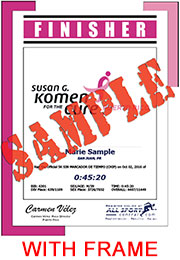 Finisher Certificate - with frame (ID:344482) - $11.99