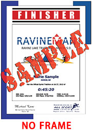 Finisher Certificate (w/o frame) (ID:340320) - $6.99