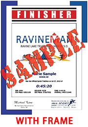 Finisher Certificate (with frame) (ID:340321) - $11.99