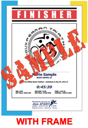 Finisher Certificate - Logo (with frame) (ID:333967) - $10.99