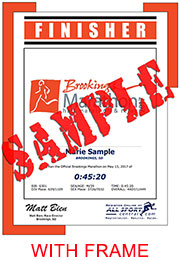 Finisher Certificate - Logo (with frame) (ID:354455) - $10.99