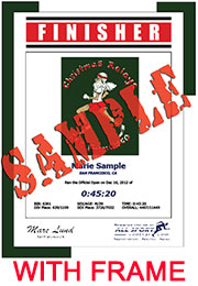 Finisher Certificate (with frame) (ID:168034) - $10.99