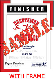 Finisher Certificate (with frame) (ID:284570) - $10.99