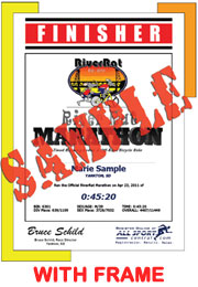 Finisher Certificate (with frame) (ID:353585) - $10.99
