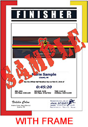 Finisher Certificate (with frame) (ID:349080) - $11.95