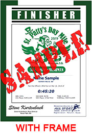 Finisher Certificate (with frame) (ID:350753) - $10.99